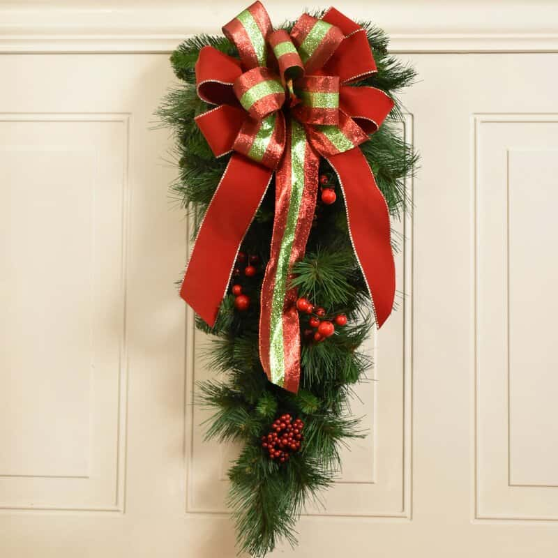 Decorate with a Berry and Greenery Swag