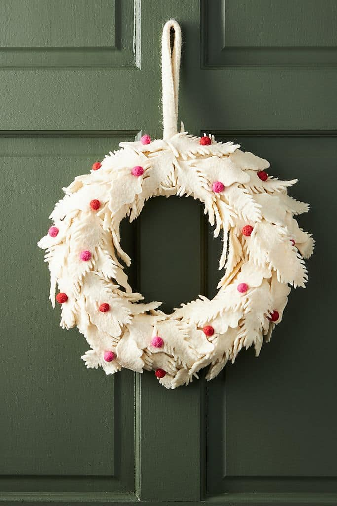 Hang a Wooly Leaf and Berry Wreath