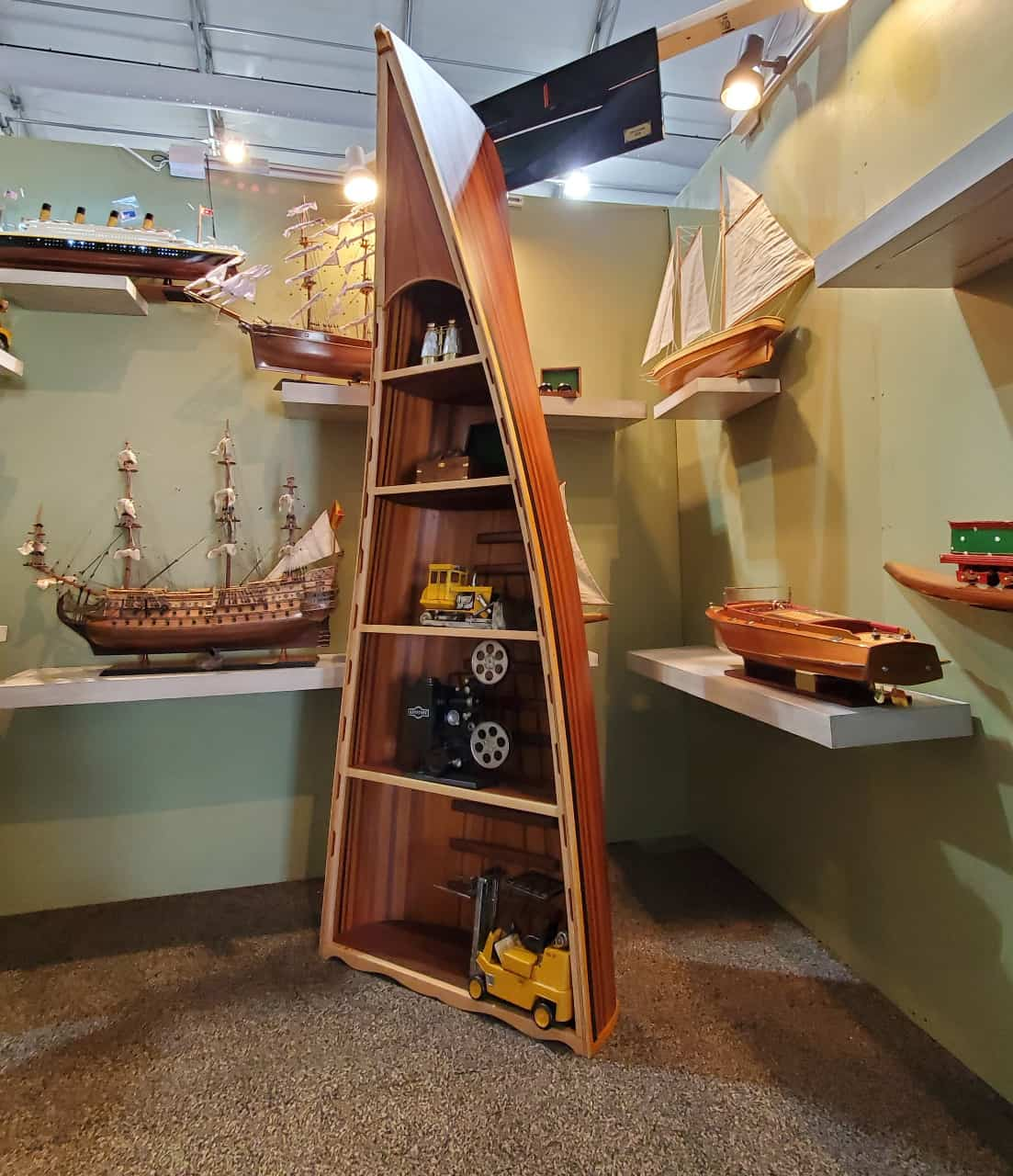 Upcycle an Old Boat for Indoor Shelves
