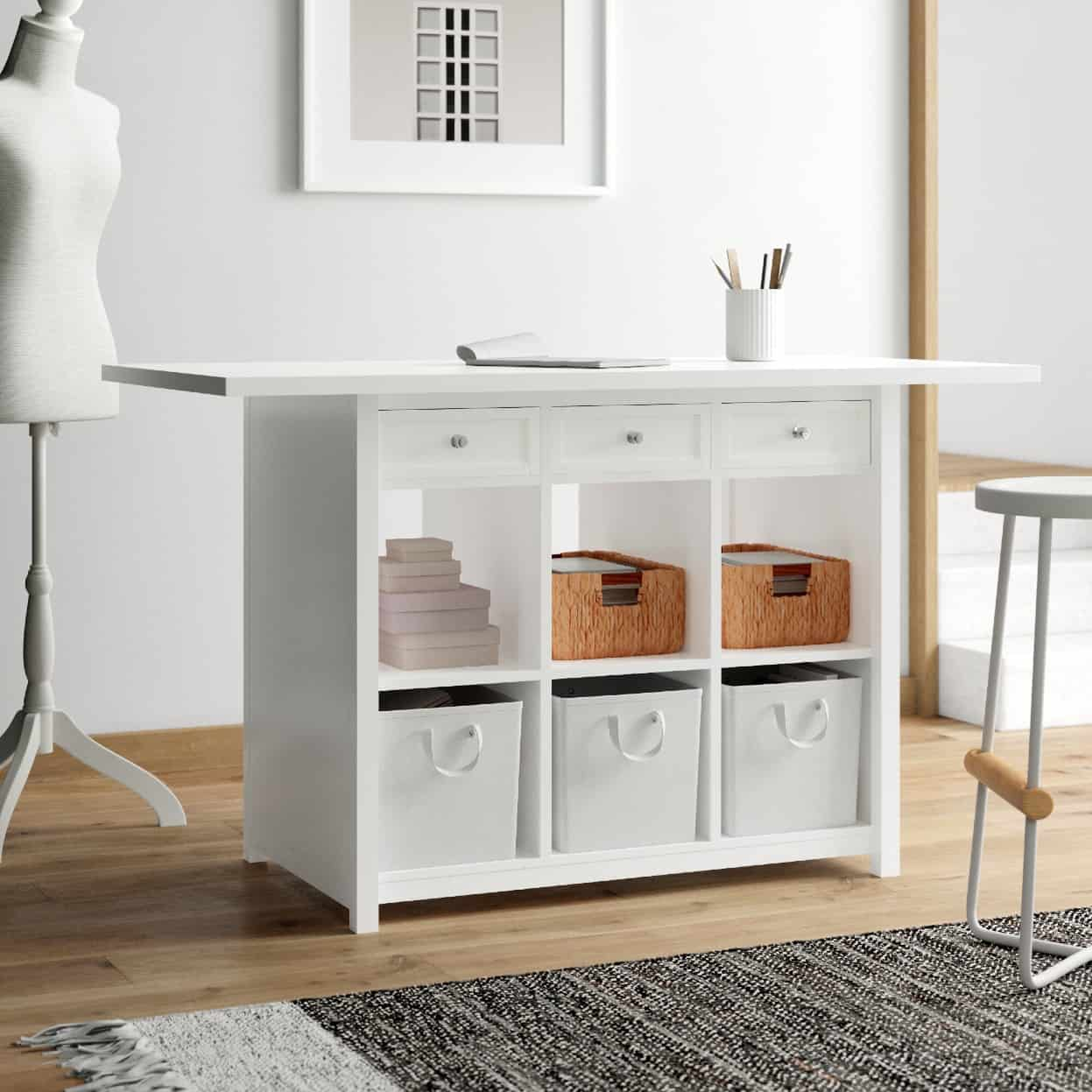 Upgrade Your Whole Sewing Room with a Storage and Craft Table