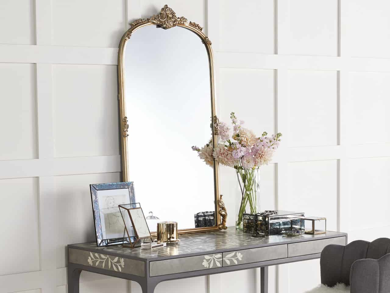 Amelie Wall Mirror in Gold