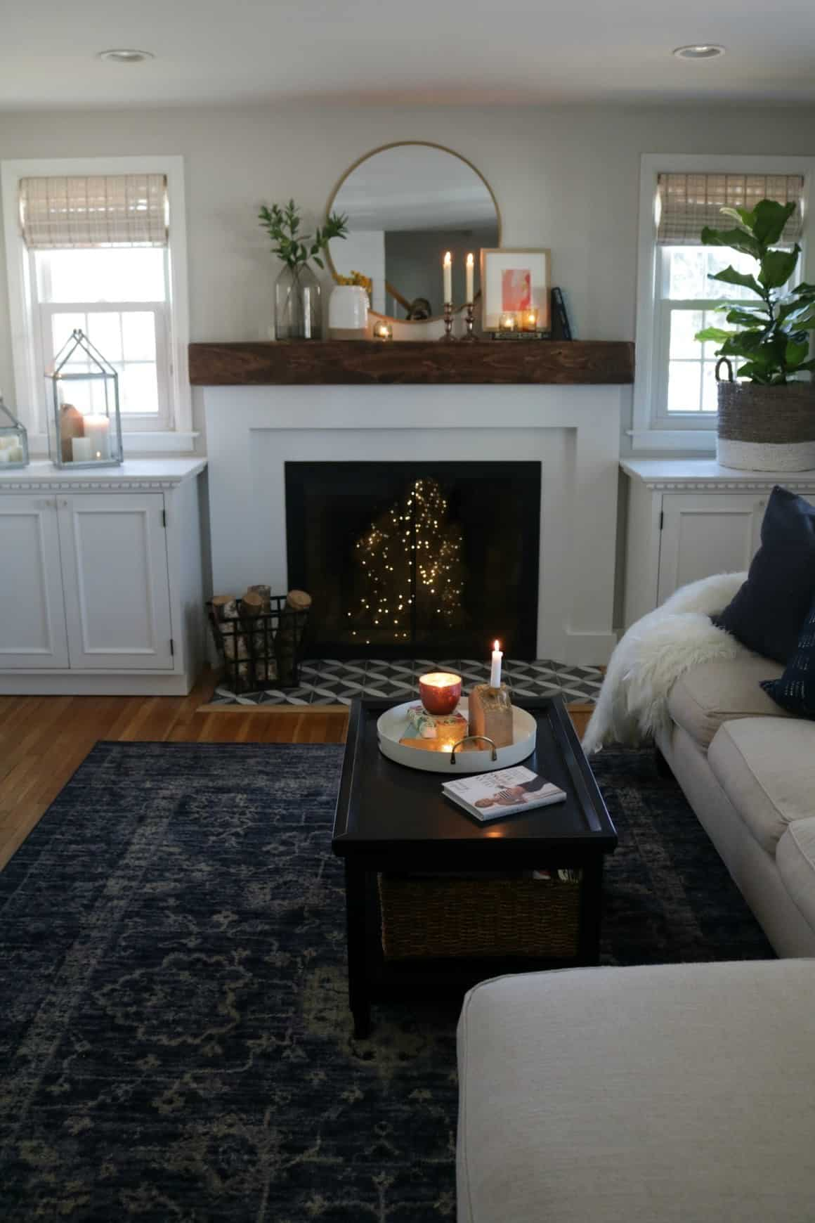 Add a Thick Antique Wood Mantel