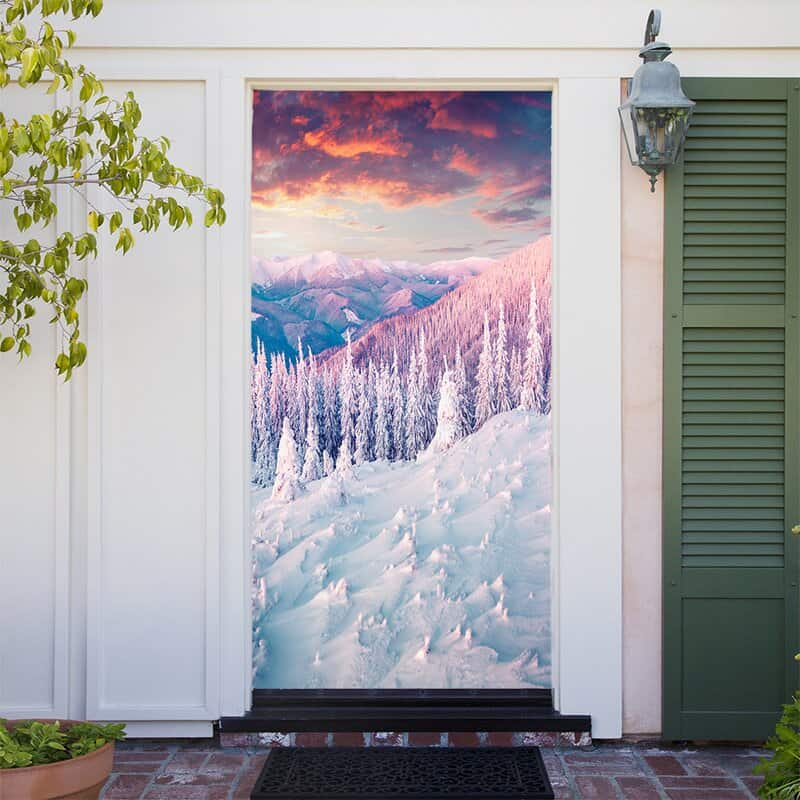 Hang a Wintry Door Mural