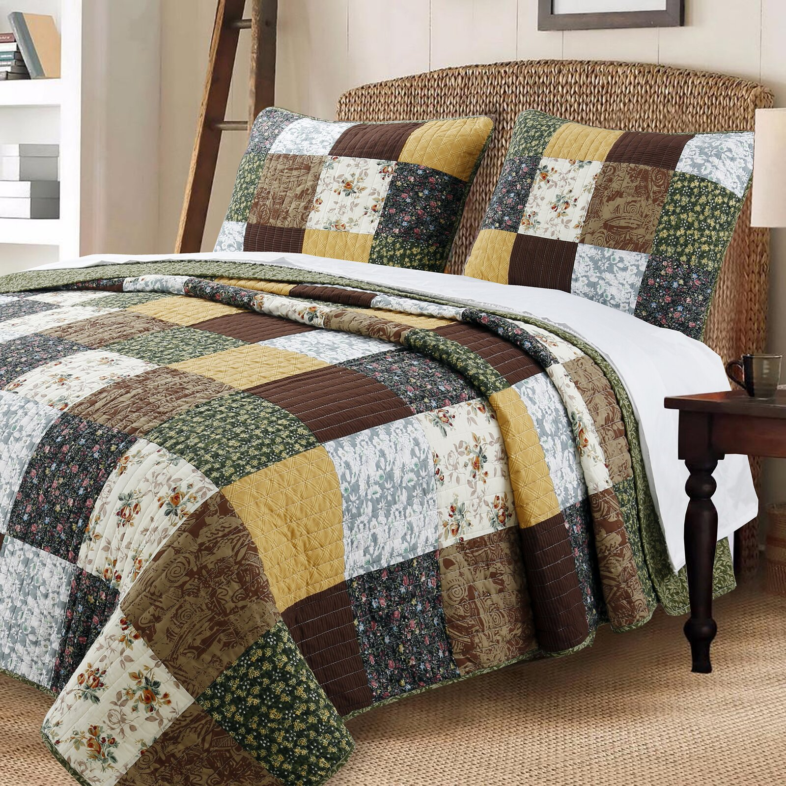 Or Change Up the Bedroom with a Quilt Set