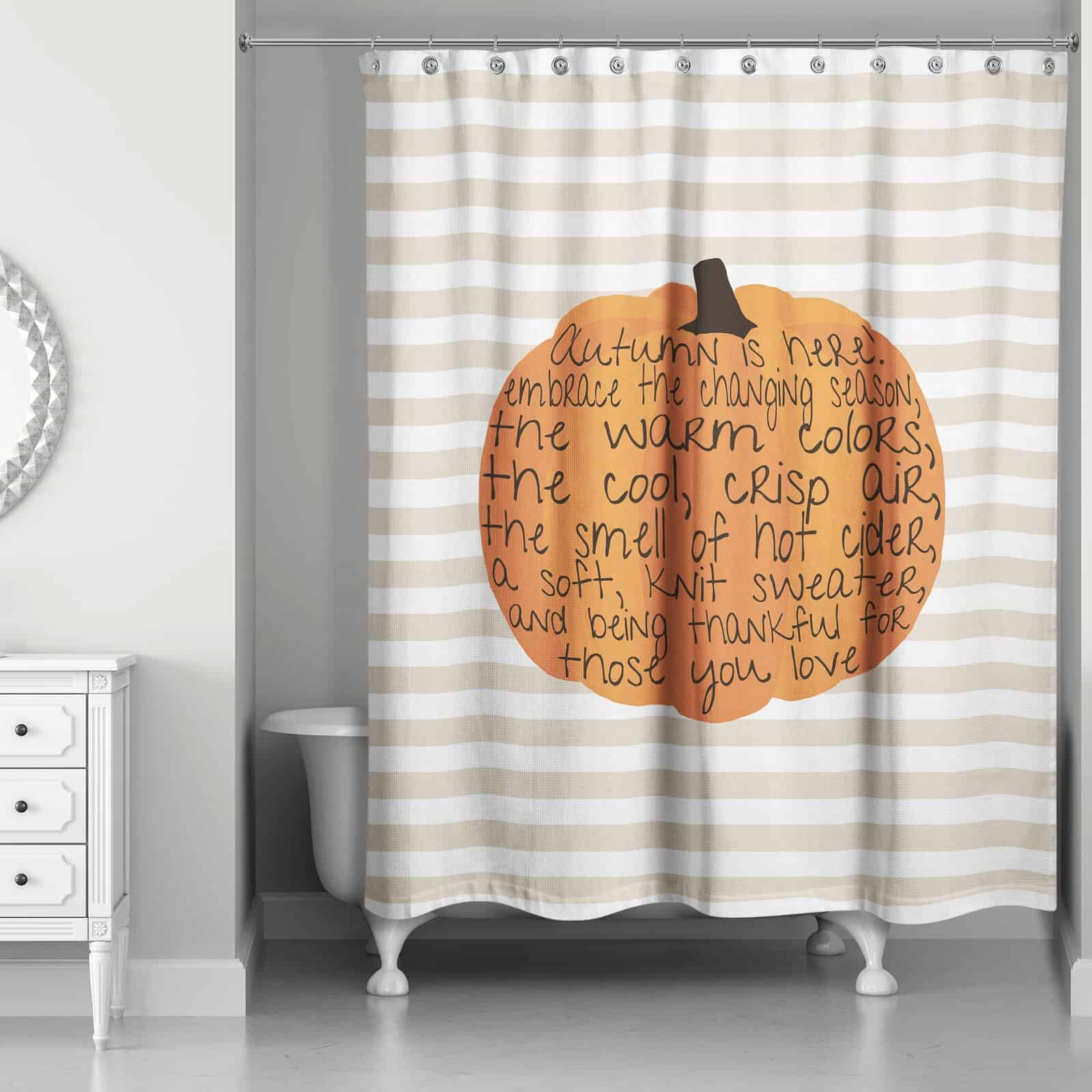 Touch Up the Bathroom with a New Shower Curtain