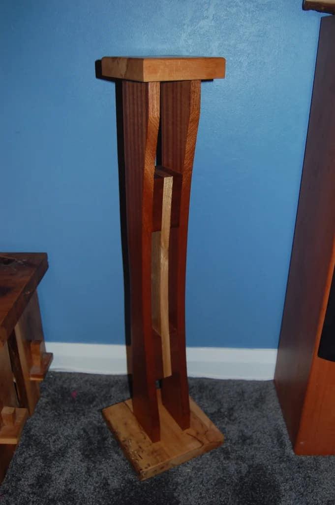 Curved Wood Speaker Stands