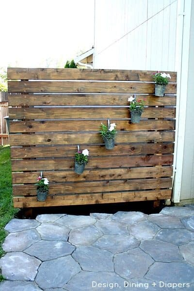 Repurpose Old Wood for a Garden Wall