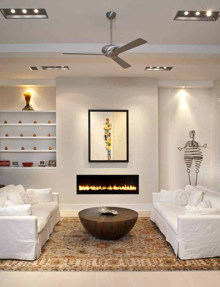 Look For a Linear Fireplace For Low Maintenance
