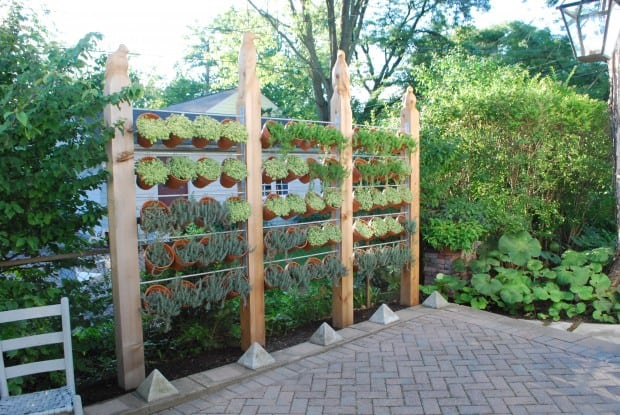Create a Hanging Pot Garden Wall