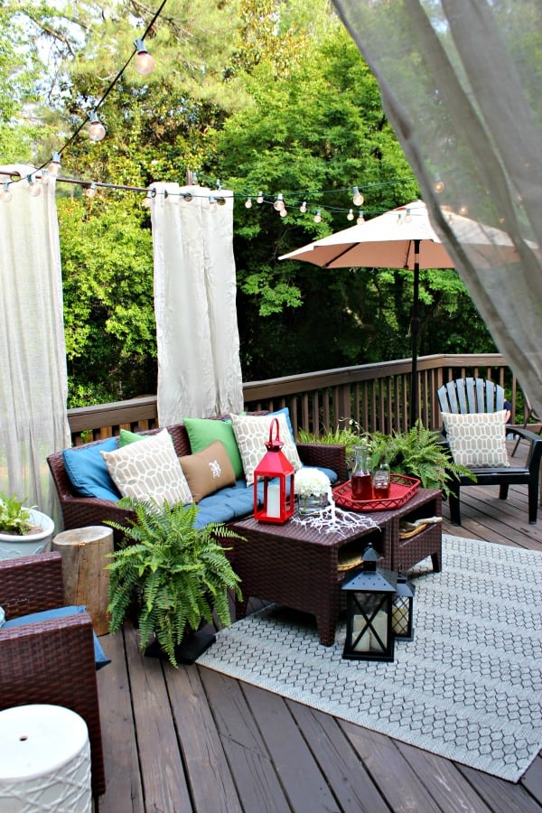 Hang Floating Curtains for Some Porch Privacy