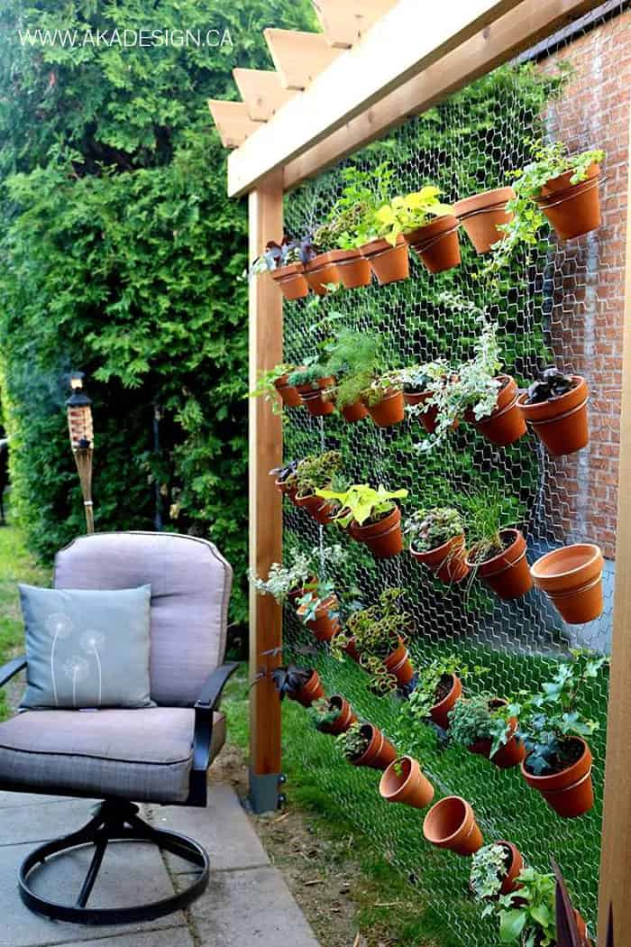 Go Herbal with a Hanging Herb Garden Wall
