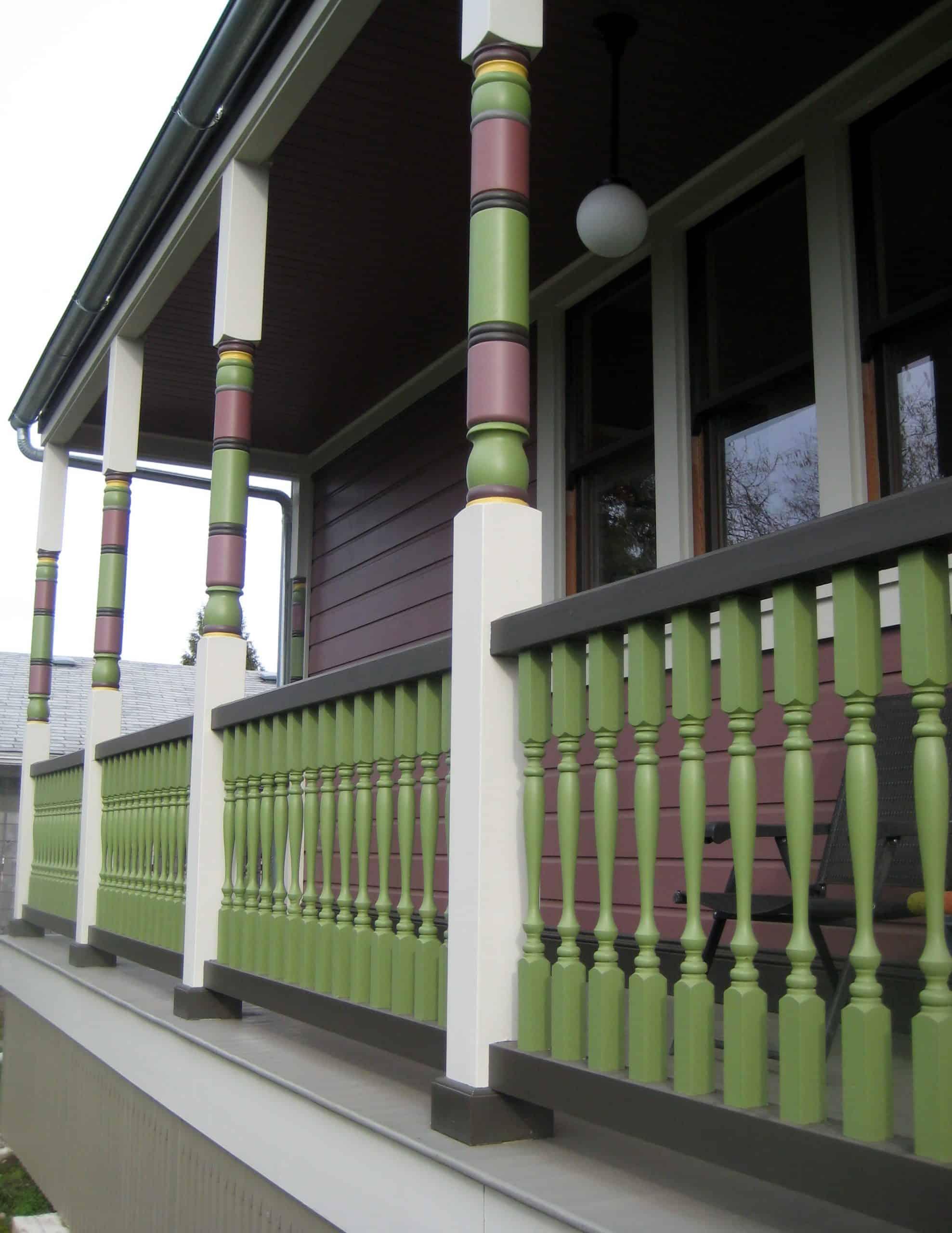Colorful Porch Pillars