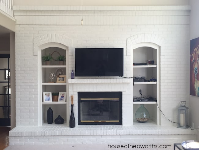Create a Full Wall For a Brick Fireplace Unit