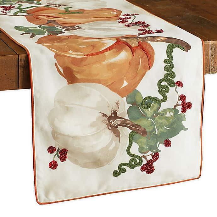 Dress it Up with a Pumpkin Themed Table Runner