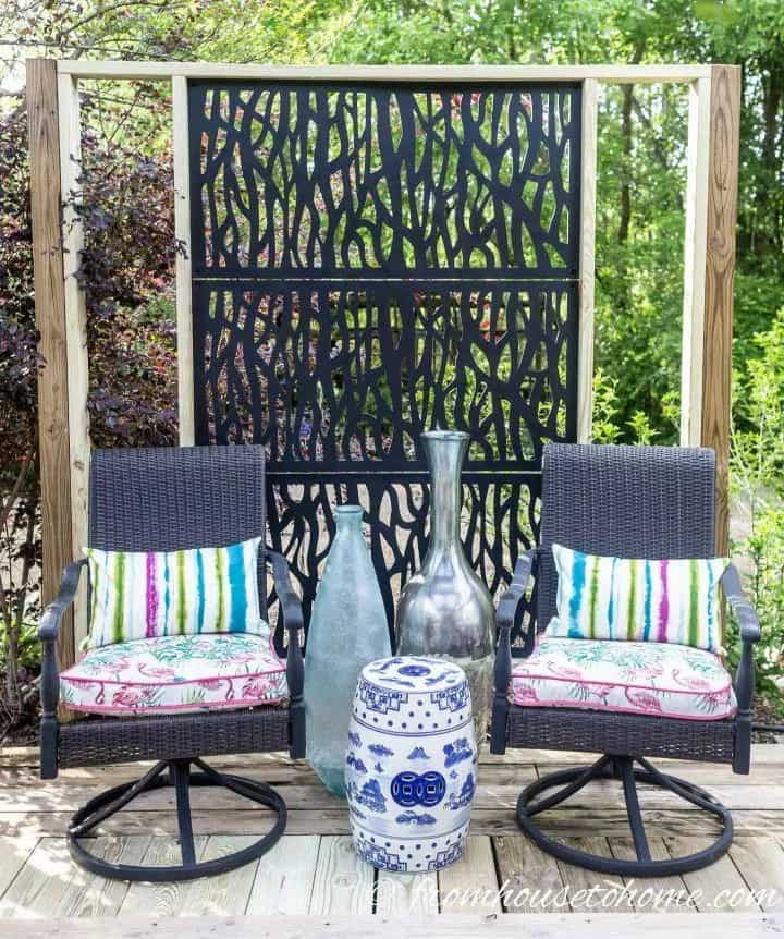 Construct a Decorative Wood Fence Privacy Screen