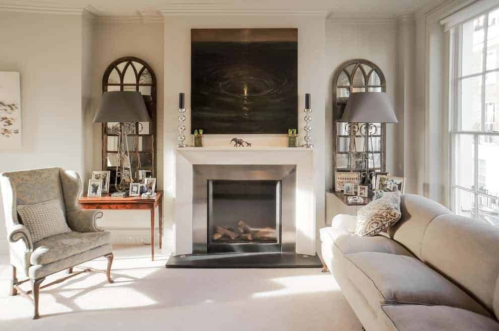 Use the Mantel as a Focal Point for Art or Books