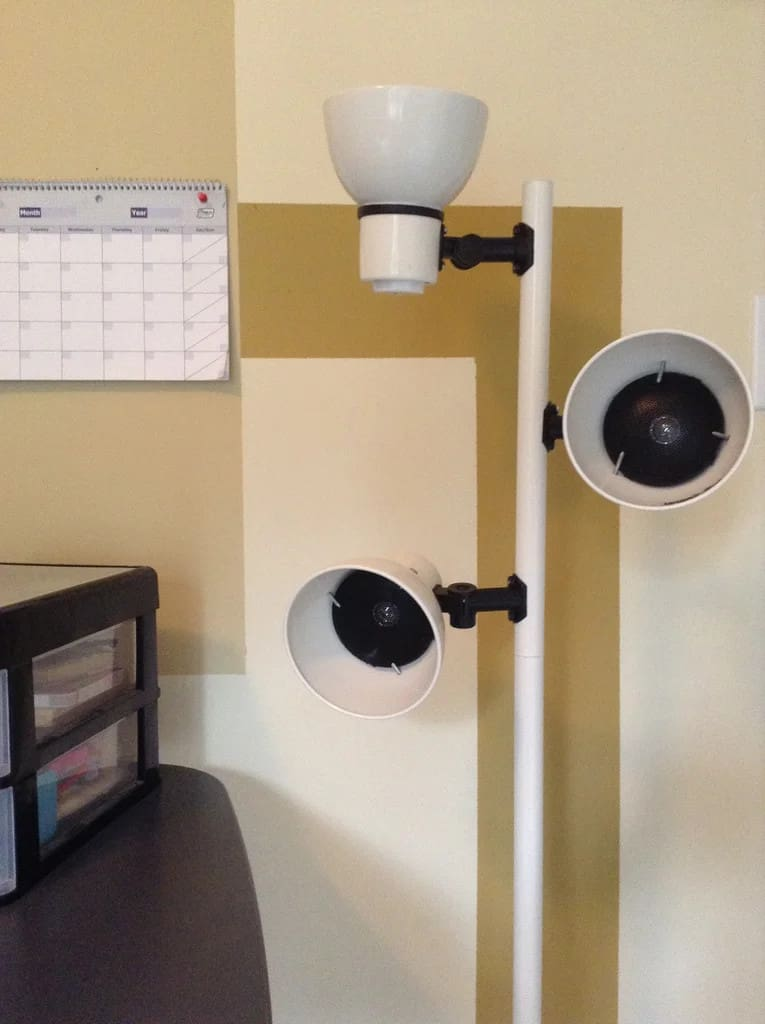 Upcycled Lampstand Speaker Stand