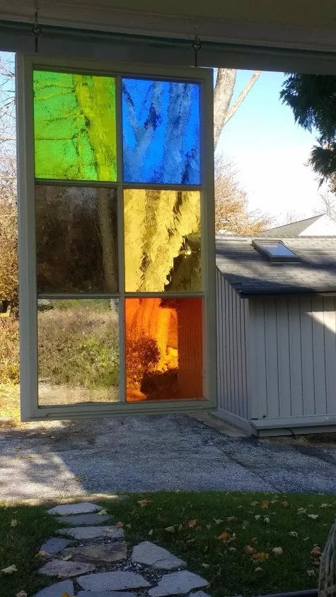 Hang a Stained Glass Screen