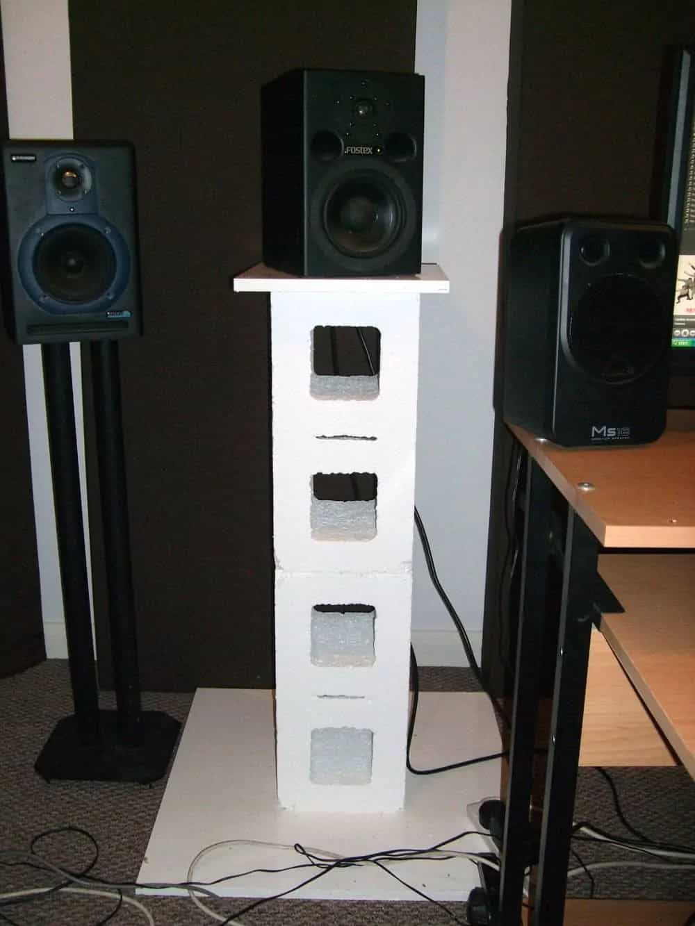 Cinder Block Stand
