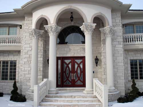 Cast Stone Columns for a Royal Look