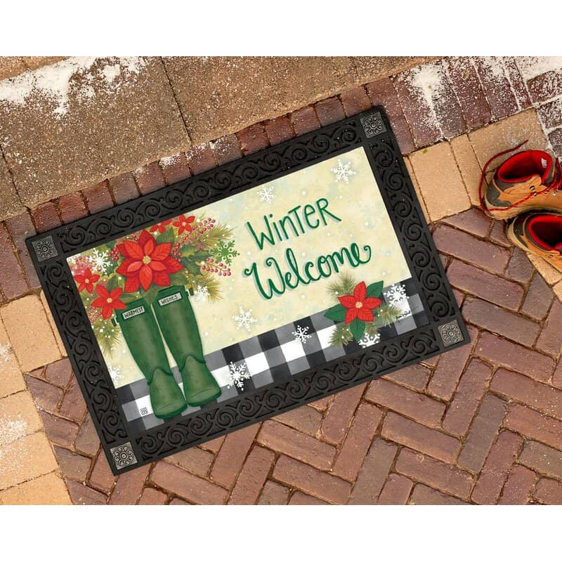 Welcome Your Guests with a Winter Mat