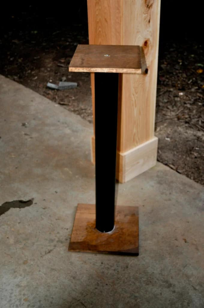 Simple PVC and Wood Speaker Stand