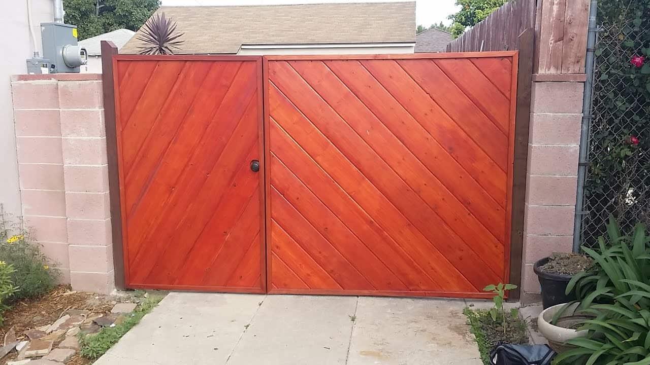 Cedar Plank Driveway Gate