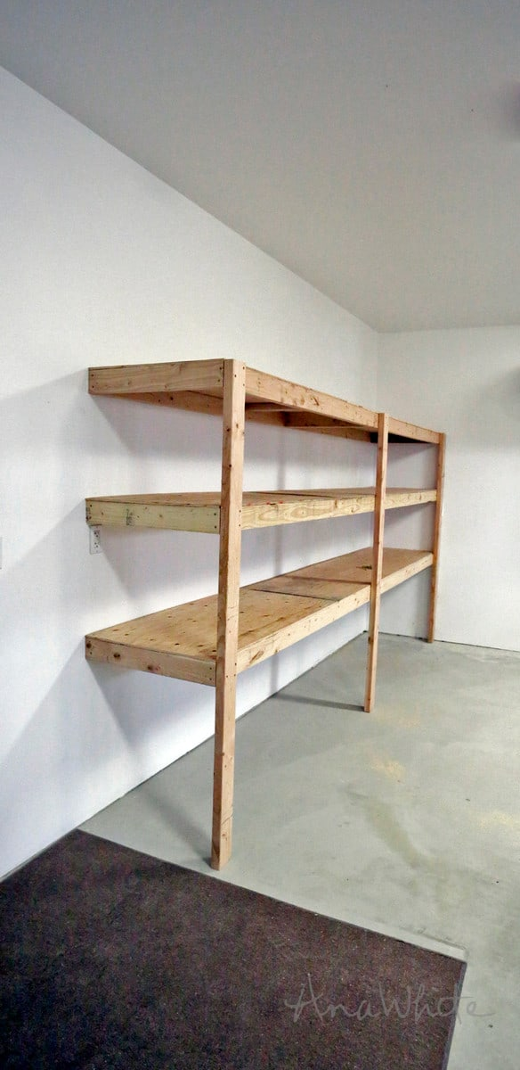 Simple Wall-Attached Shelves