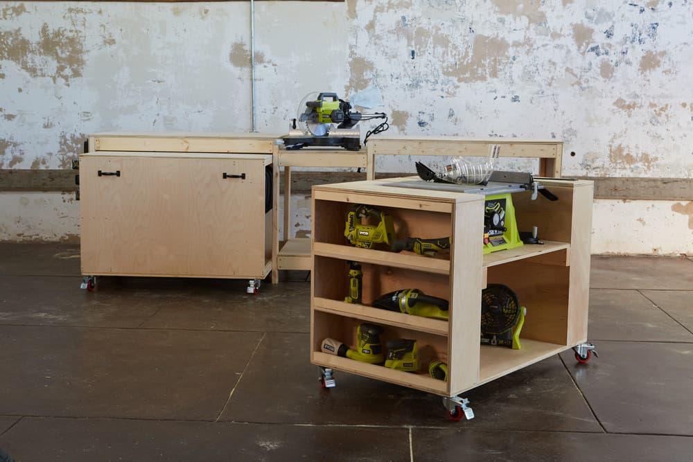 Built-in Saw Storage Cart
