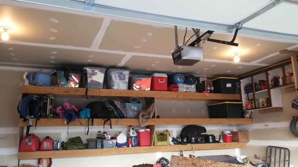 Floating Garage Shelves