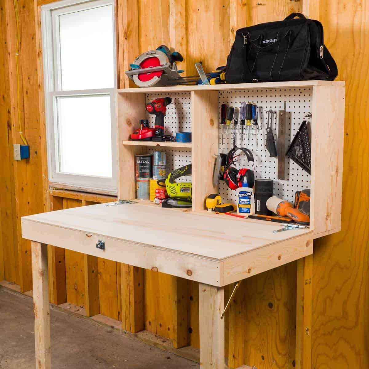 Fold Up Workbench and Storage