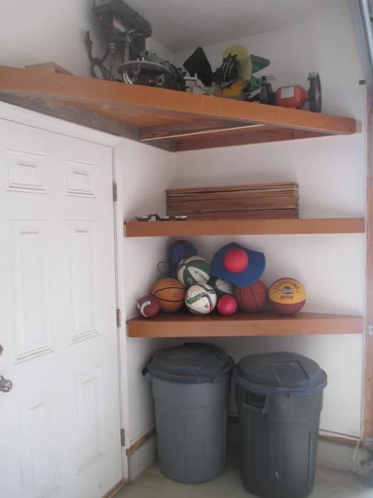 Upcycled Wooden Bleacher Shelves