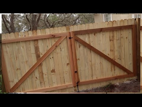 Double-Wide Wooden Gates