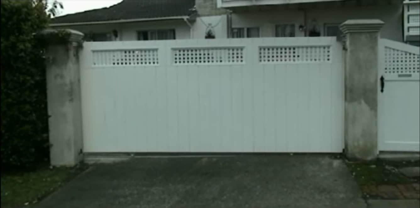 Simple Wood Sliding Gate