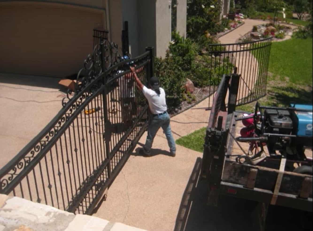 DIY Decorative Metalwork Gate
