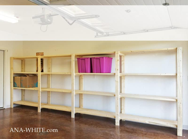 Free-Standing Long Wall Storage