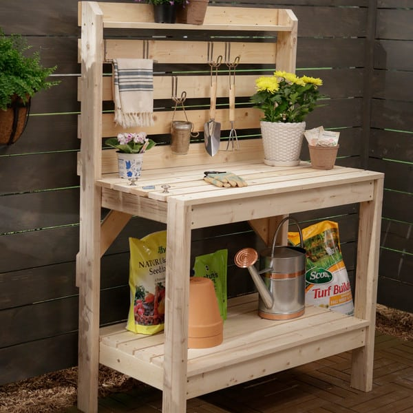 Potting Bench Gardening Storage