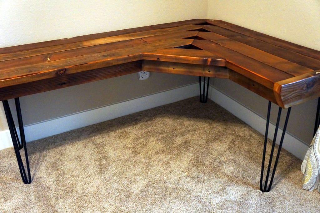 Reclaimed Wood Corner Desk