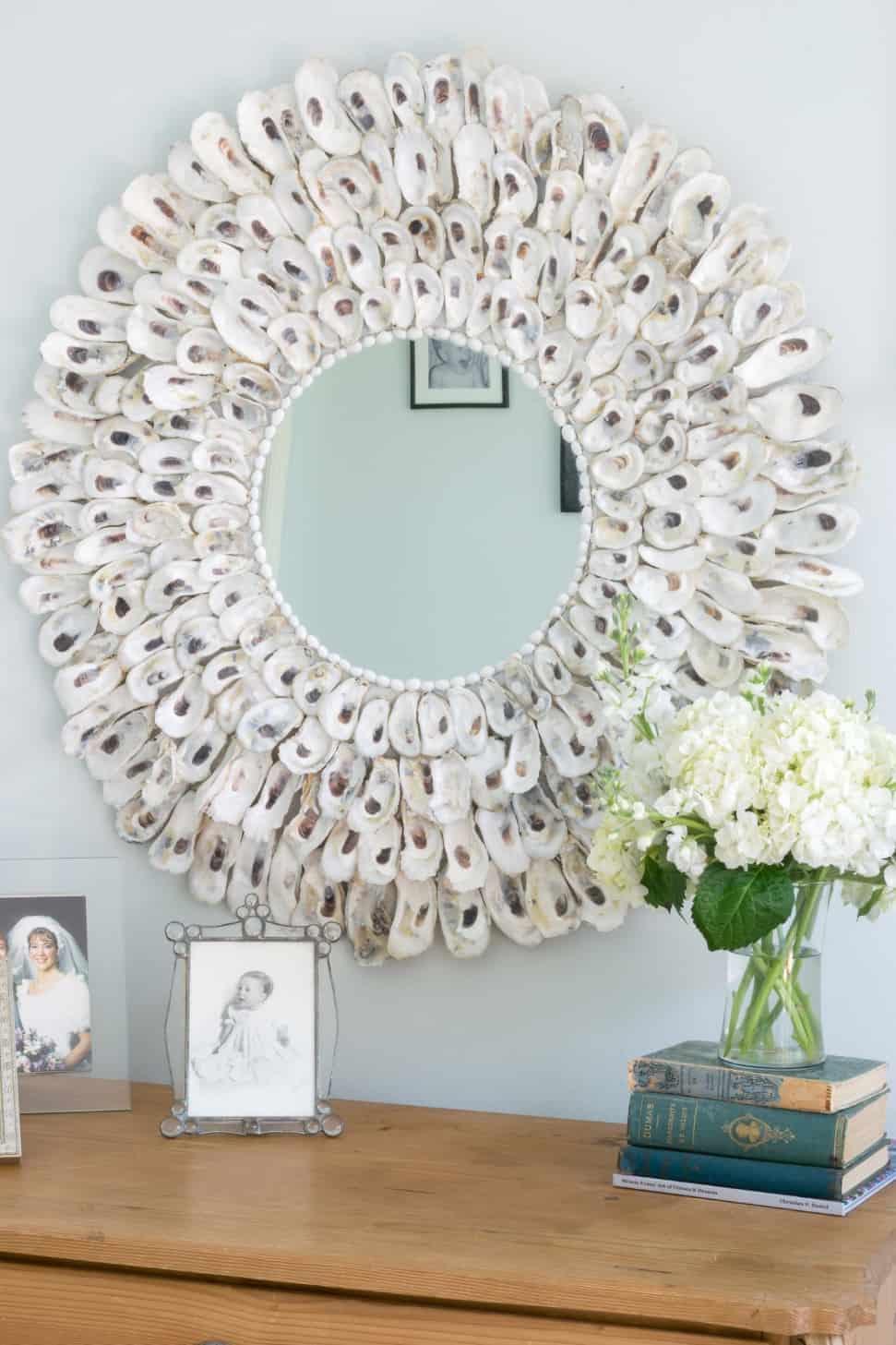 DIY Oyster Shell Mirror