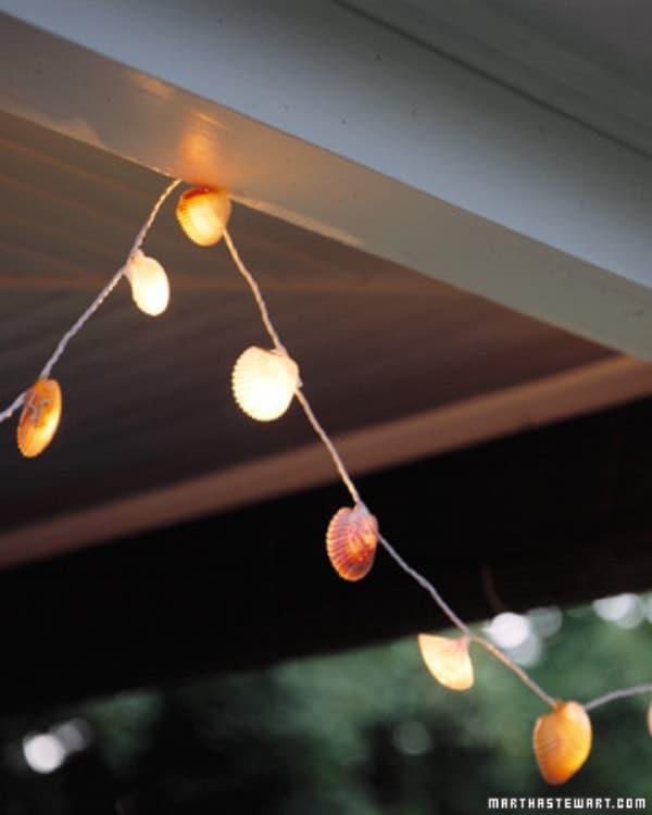 DIY Seashell String Lights