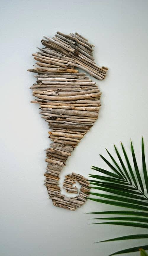 Driftwood Seahorse Wall Decor