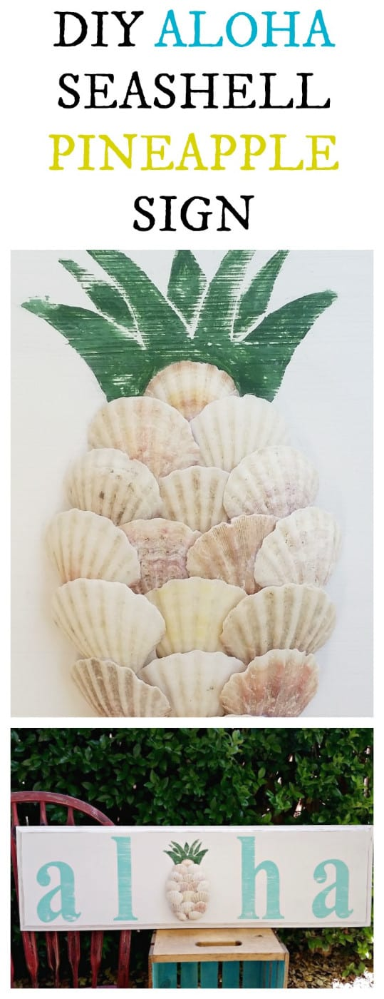 Seashell Pineapple - Aloha Sign