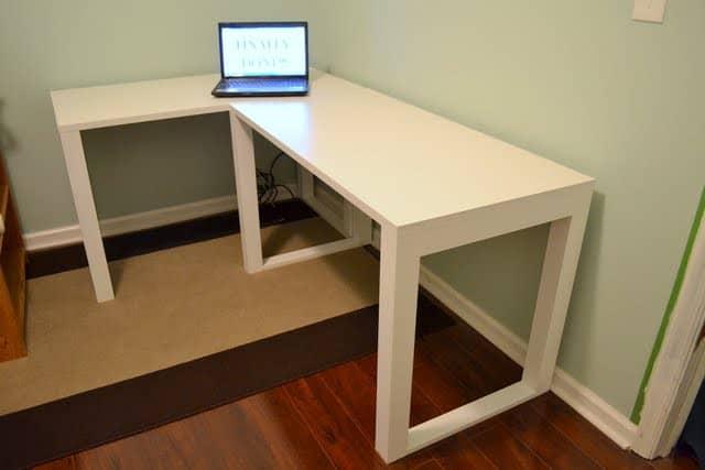 Easy Corner Craft Desk