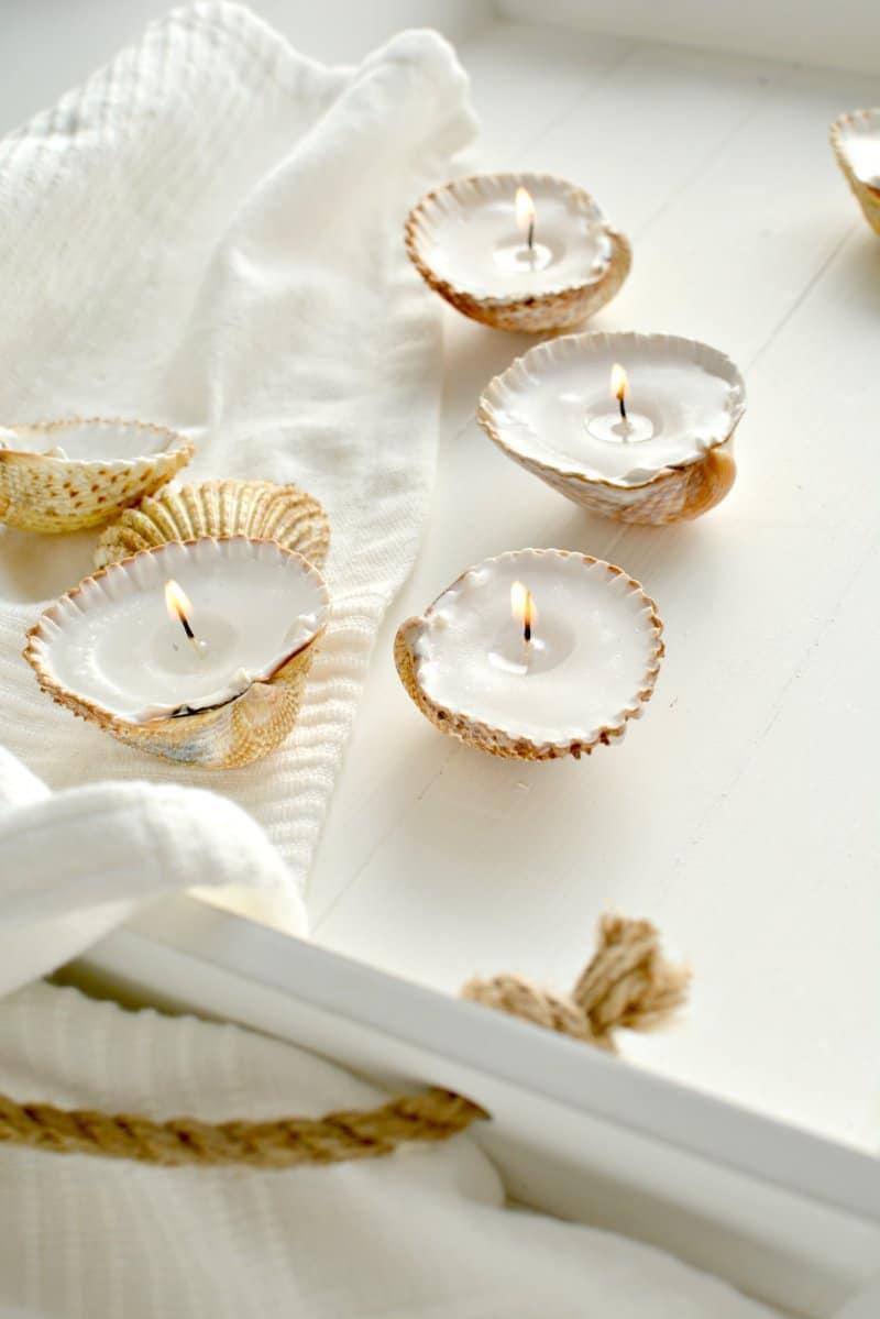 Homemade Shell Tea Lights