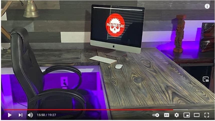 Underlit Gamer's Corner Desk