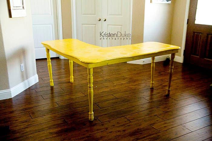 Custom $50 Spindle Leg Desk