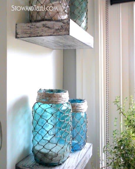Fishing Net Candle Jars