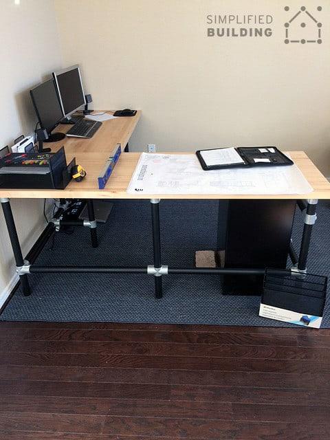 Butcher Block Corner Desk